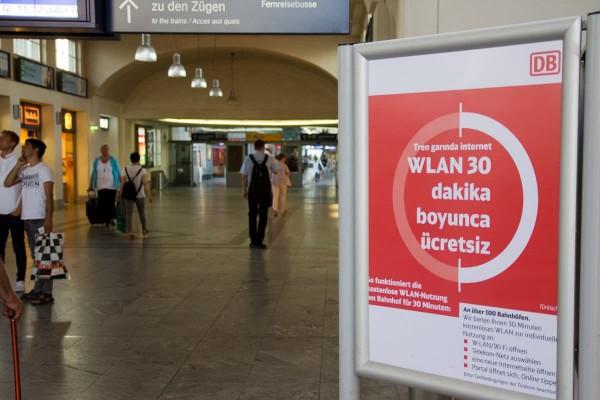 WLAN in 125 Bahnhöfen gratis nutzen. Wann kommt es in den Zug?
