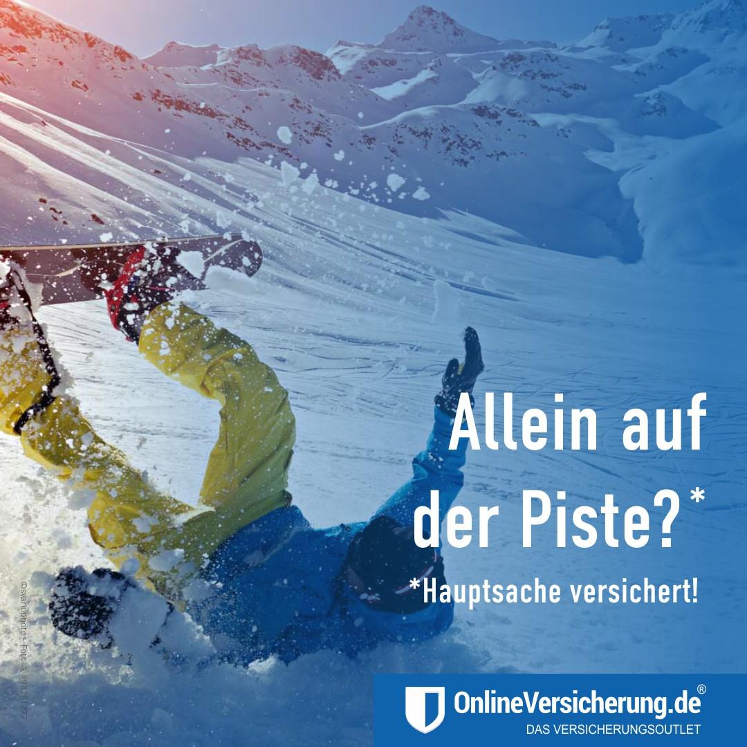 Gefahr - Schnee-Eisglätte Unfallversicherung