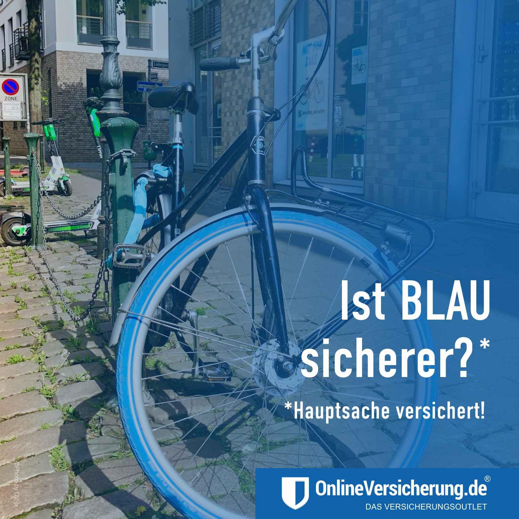 Fahrraddiebstahl - Ist BLAU sicherer? Hausratversicherung Fahrradversicherung
