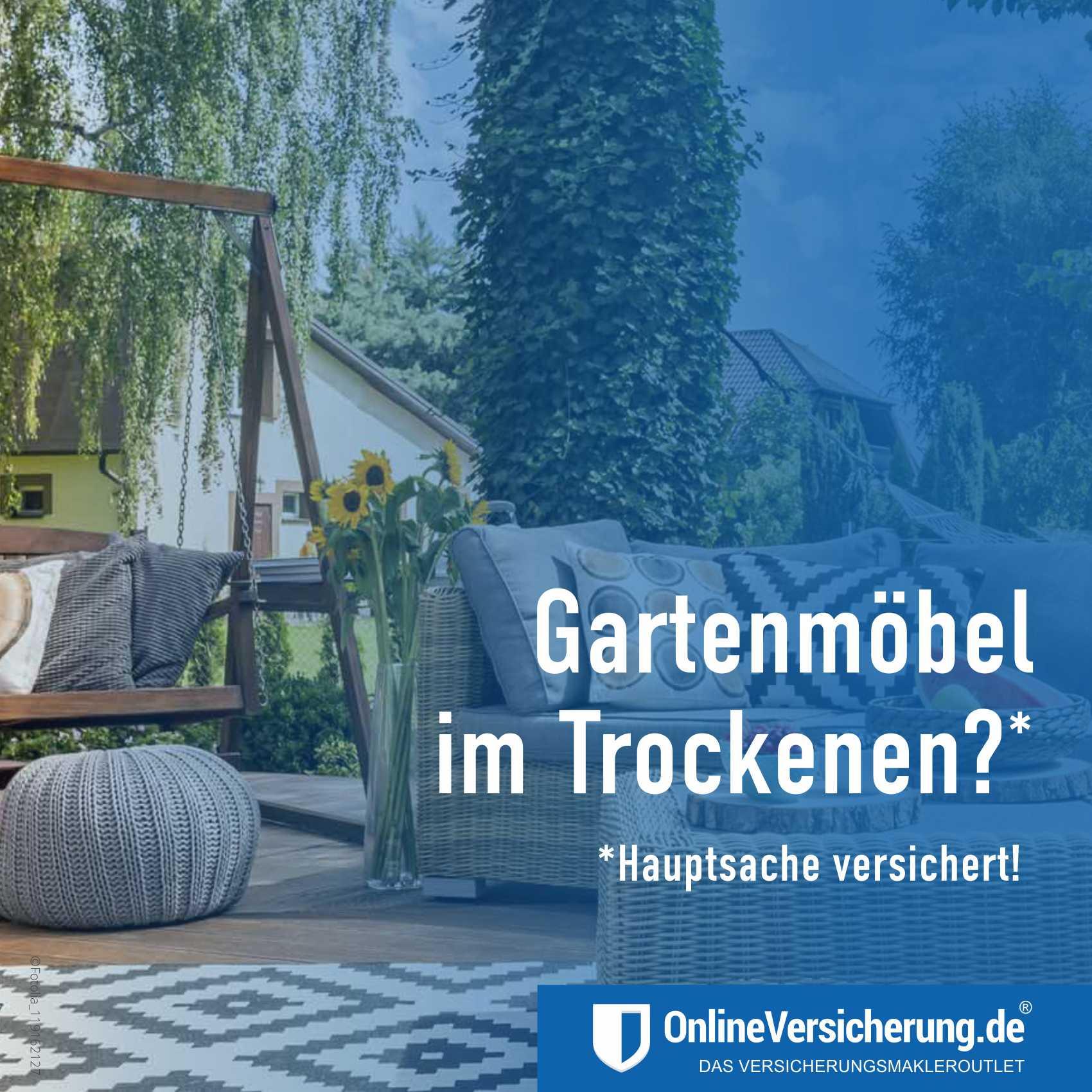 Gartenmöbel- und Balkonmöbel versichert?