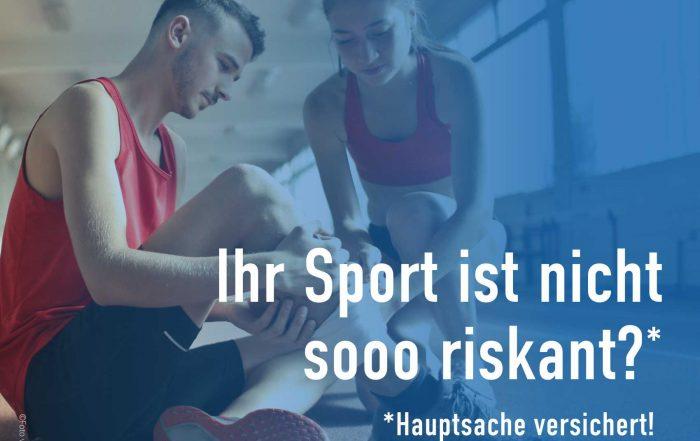 Ihr Sport ist ist nicht sooo riskant - Verbesserte-Unfallversicherung-Online